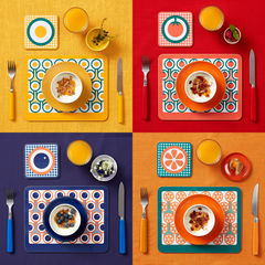 coaster & placemat set - 4 sets - product images 1 of 6