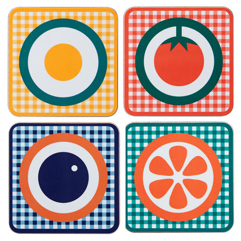 coaster,sets,coaster set, sets of four coaster, melamine coaster, graphic design, mother's day gift, housewarming gifts, homeware, tableware, english breakfast