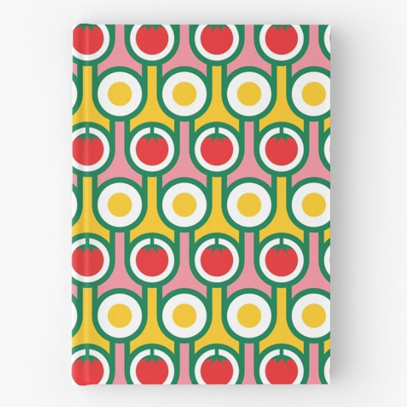 Hardback notebook - Eggs and Tomatoes - product image