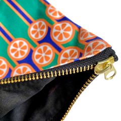 Zipper pouch - Oranges and blueberries - product images 2 of 3
