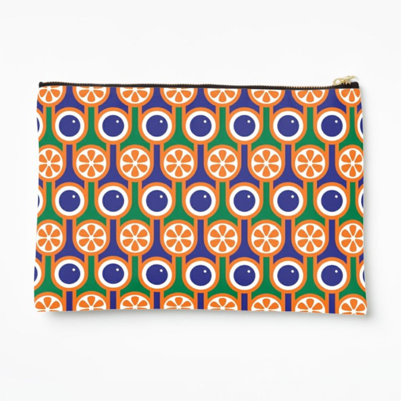 Zipper pouch - Oranges and blueberries - product image