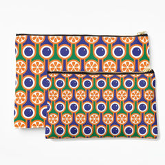 Zipper pouch - Oranges and blueberries - product images 3 of 3
