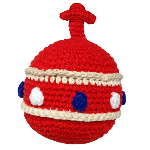 Crochet,orb,rattle,-,red,royal baby gift, royal baby orb rattle, toy, red