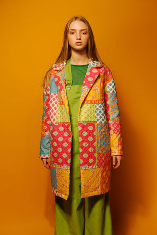 Patchwork,Coat,coat, outerwear