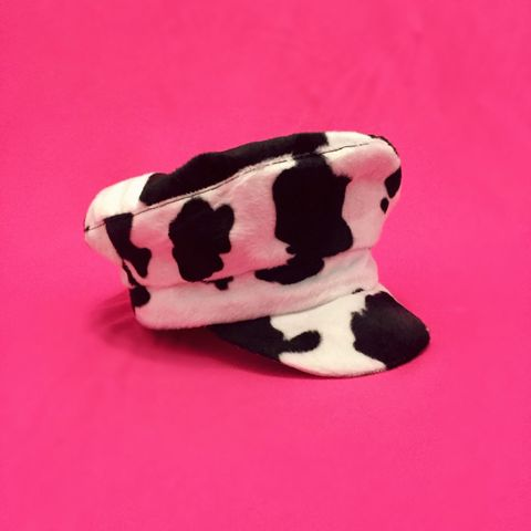 Cow Print Baker Boy Hat - product images  of