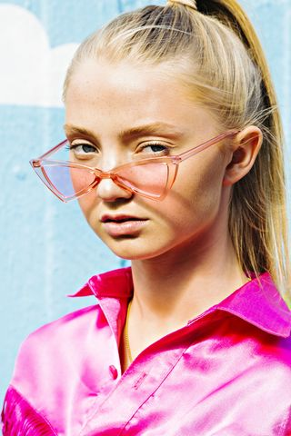 Pink Cat Eye Sunglasses - product images  of