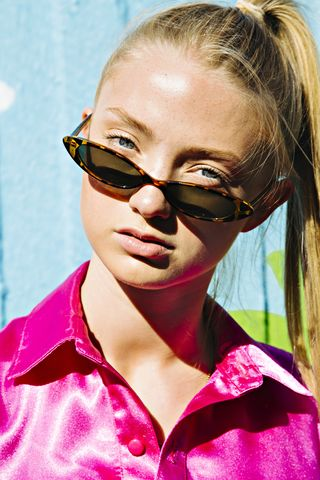 Skinny Cat Eye Sunglasses - product images  of