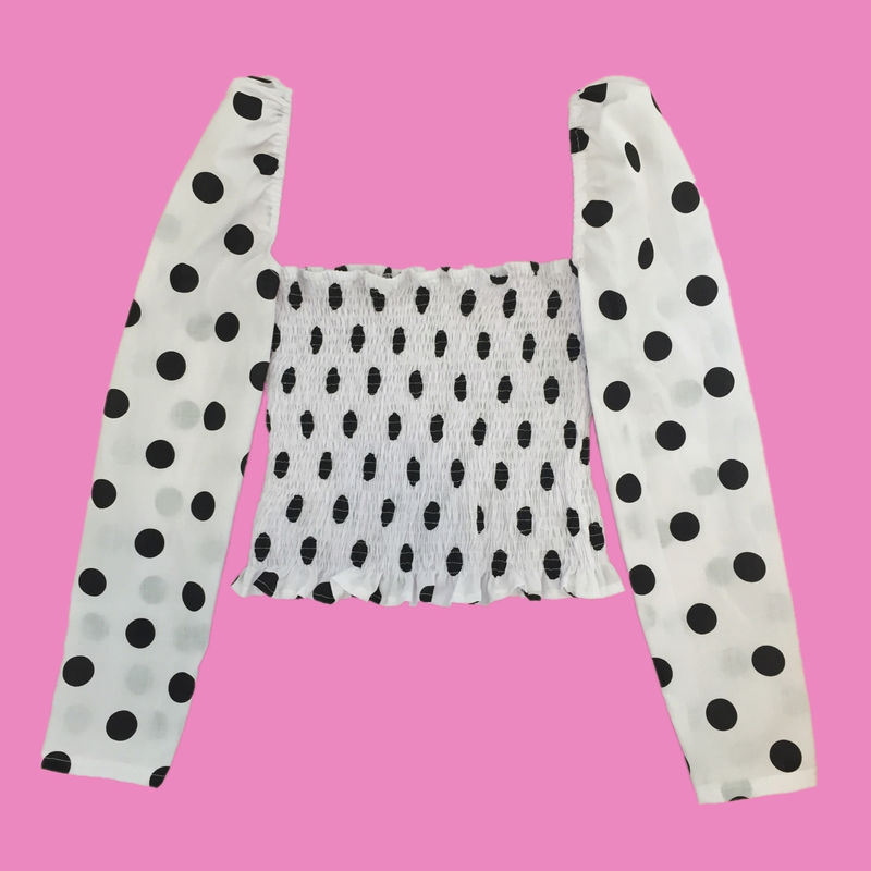 The Romance Top in White Polka - product images  of