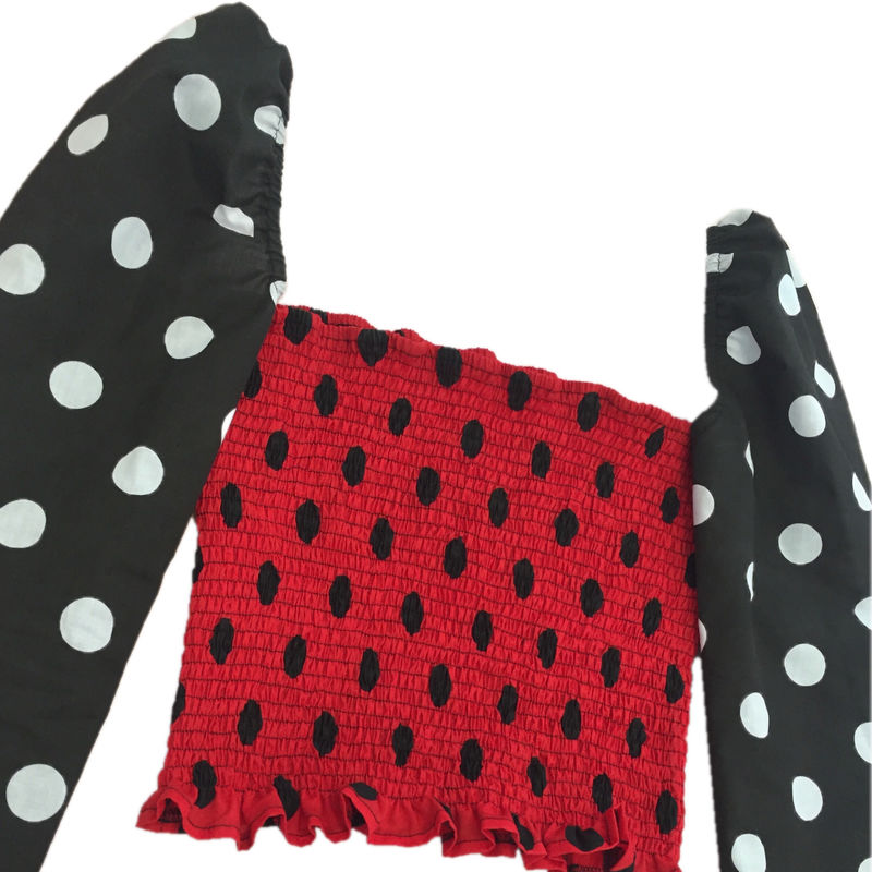 The Romance Top in Black & Red Polka - product images  of