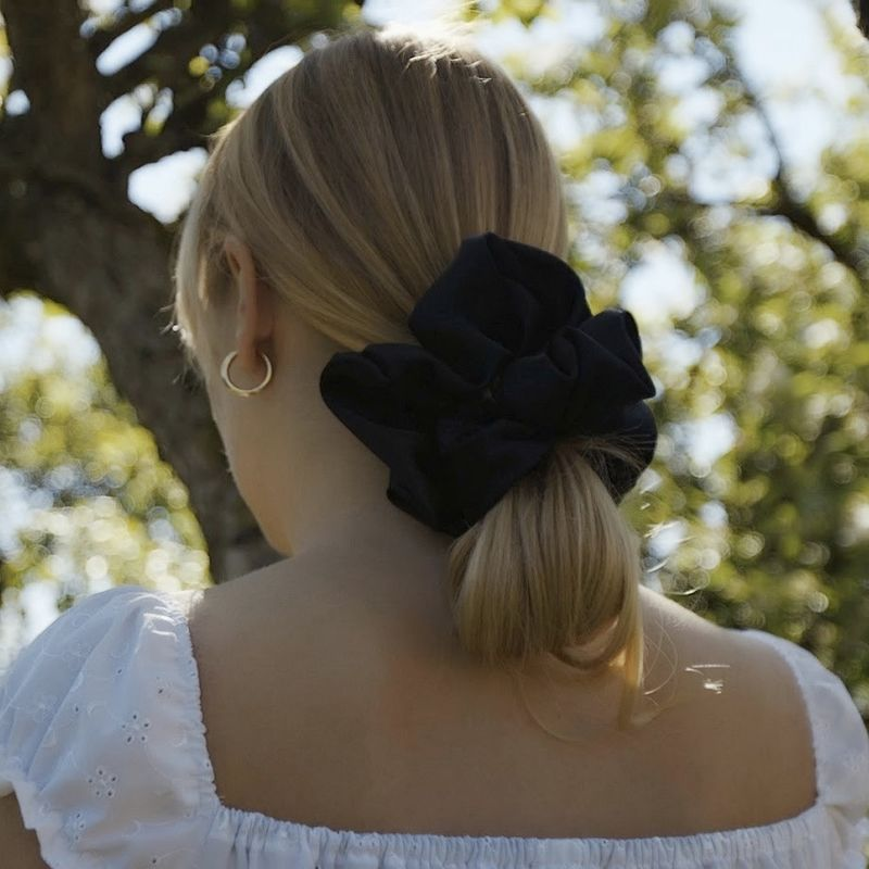 Black Satin Giant Scrunchie - product images  of