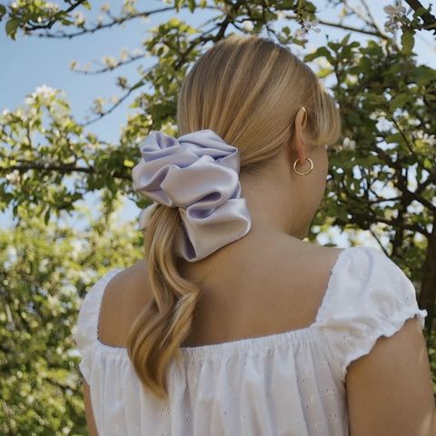 Lilac,Satin,Giant,Scrunchie,giant scrunchie lilac satin 90s