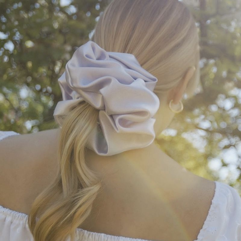 Lilac Satin Giant Scrunchie - product images  of