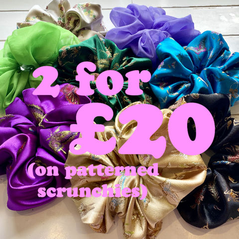 Any,2,PATTERNED,Giant,Scrunchies,for,£20,scrunchie giant deal offer
