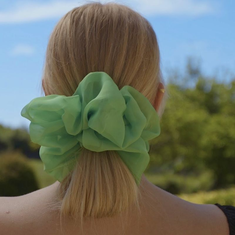 Lime Green Giant Scrunchie - product images  of