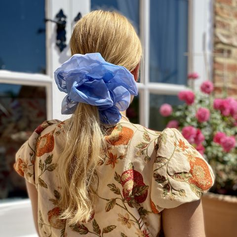 Hyacinth,Giant,Scrunchie,giant scrunchie 90s cloud organza sheer oversized big