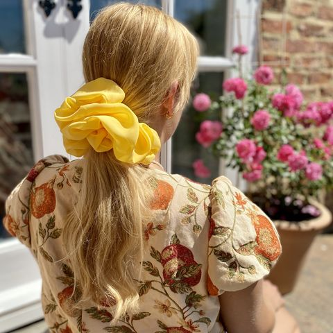 Sunshine,Yellow,Giant,Scrunchie,giant scrunchie 90s cloud organza sheer oversized big