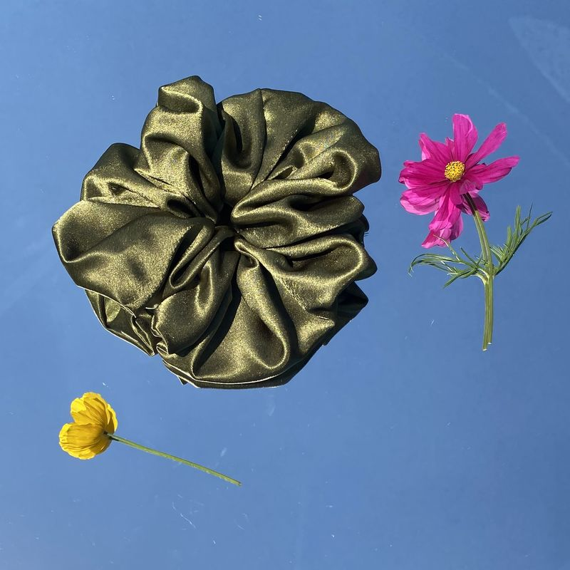 Olive Giant Scrunchie - product images  of