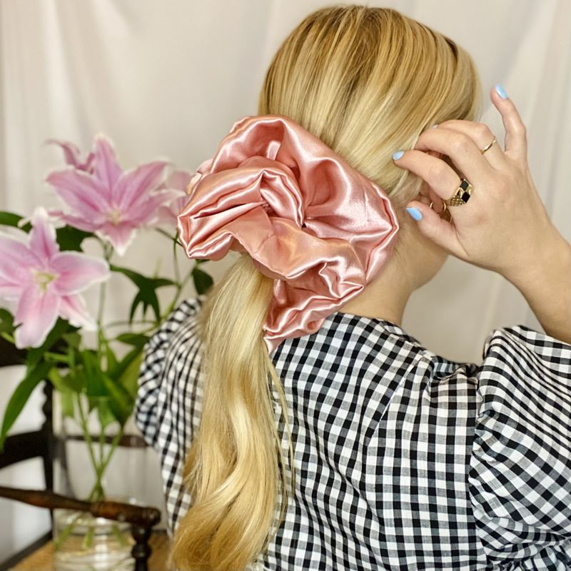 Blush Pink Satin Giant Scrunchie - product images  of