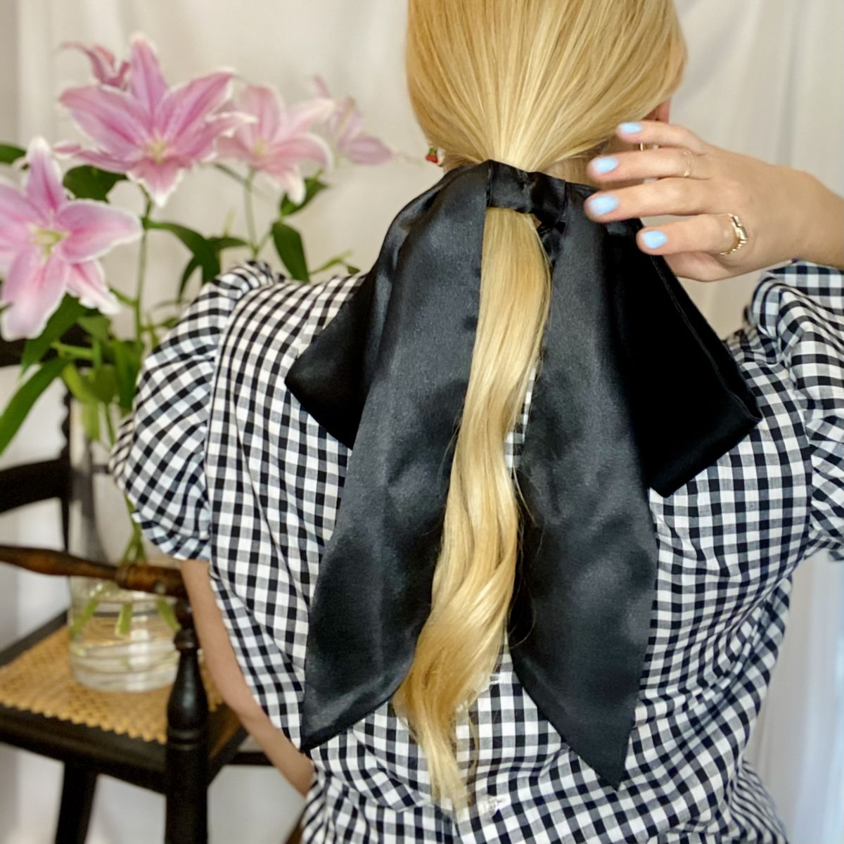 Black Satin Giant Bow - product images  of