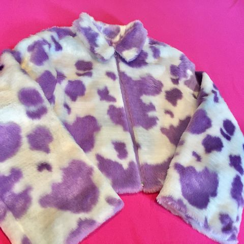 Lilac,Cow,Fur,Bomber,cow print jacket bomber fur faux festival honey clothing lilac pink