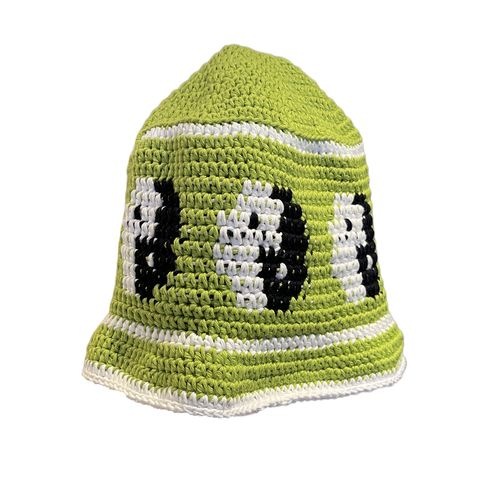 Lime,Jello,Yin,Yang,Hat,Crochet yin yang bucket hat cotton