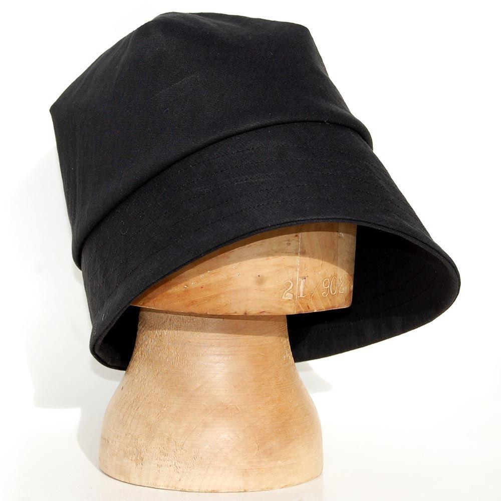 Black rain hat in waxed cotton ZUTamelie - ZUT hats 291ad6d3377