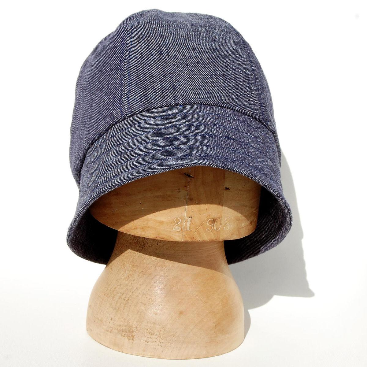 Indigo linen bucket hat ZUTjeanne - ZUT hats b636f9aad8f
