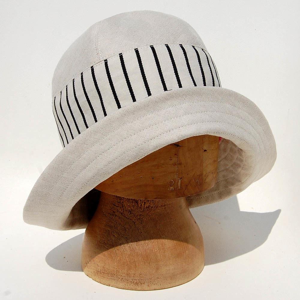 ... Cream ticking sun hat ZUTraymonde - product images of ... 4e2da5c9f30