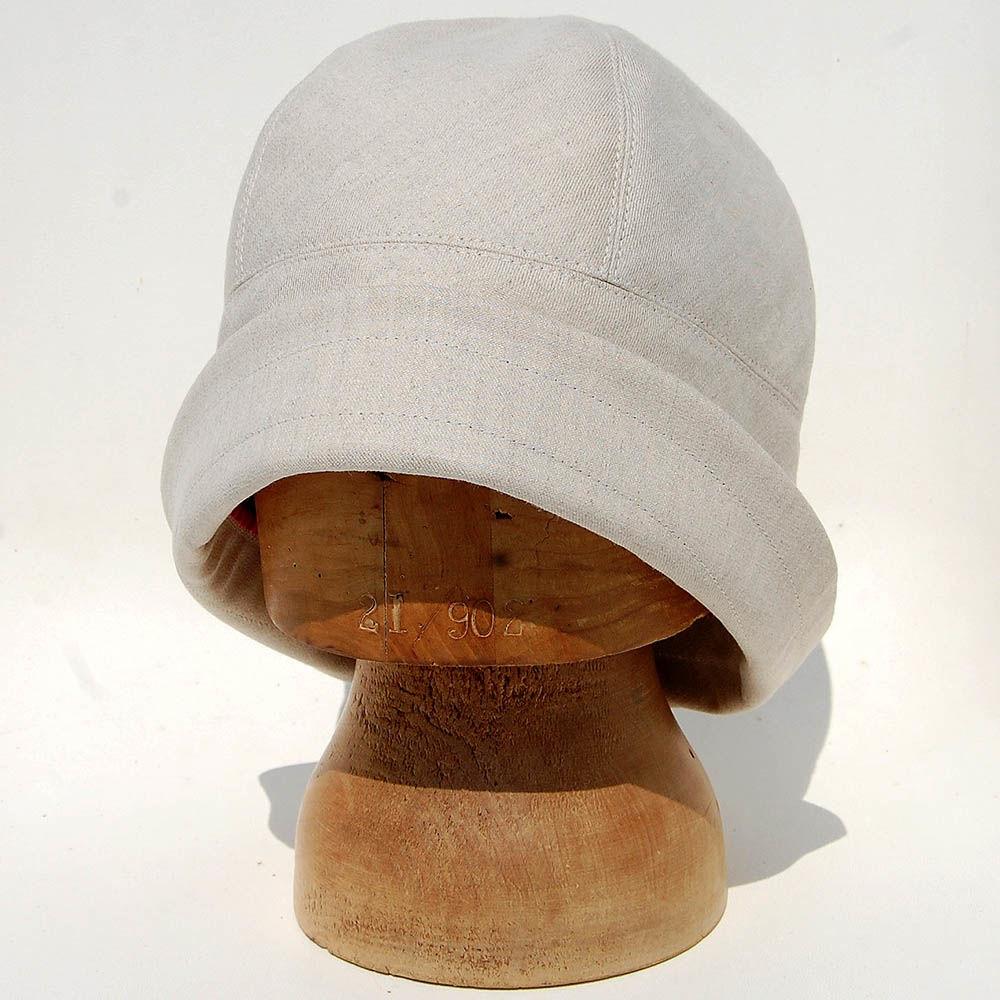 Cream cloche sun hat ZUTgiselle - ZUT hats d51d6eb5954