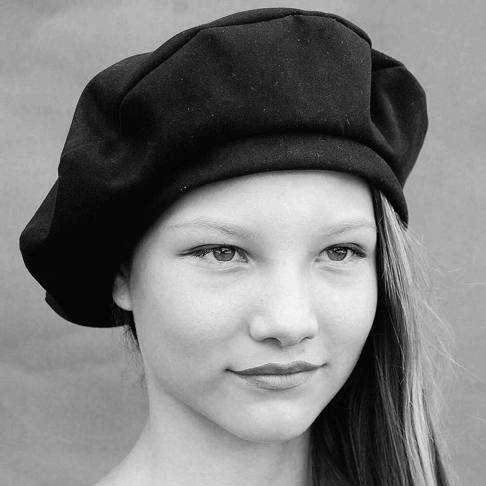 b0b00a0dbdbe6 Classic black beret ZUTmarie - ZUT hats