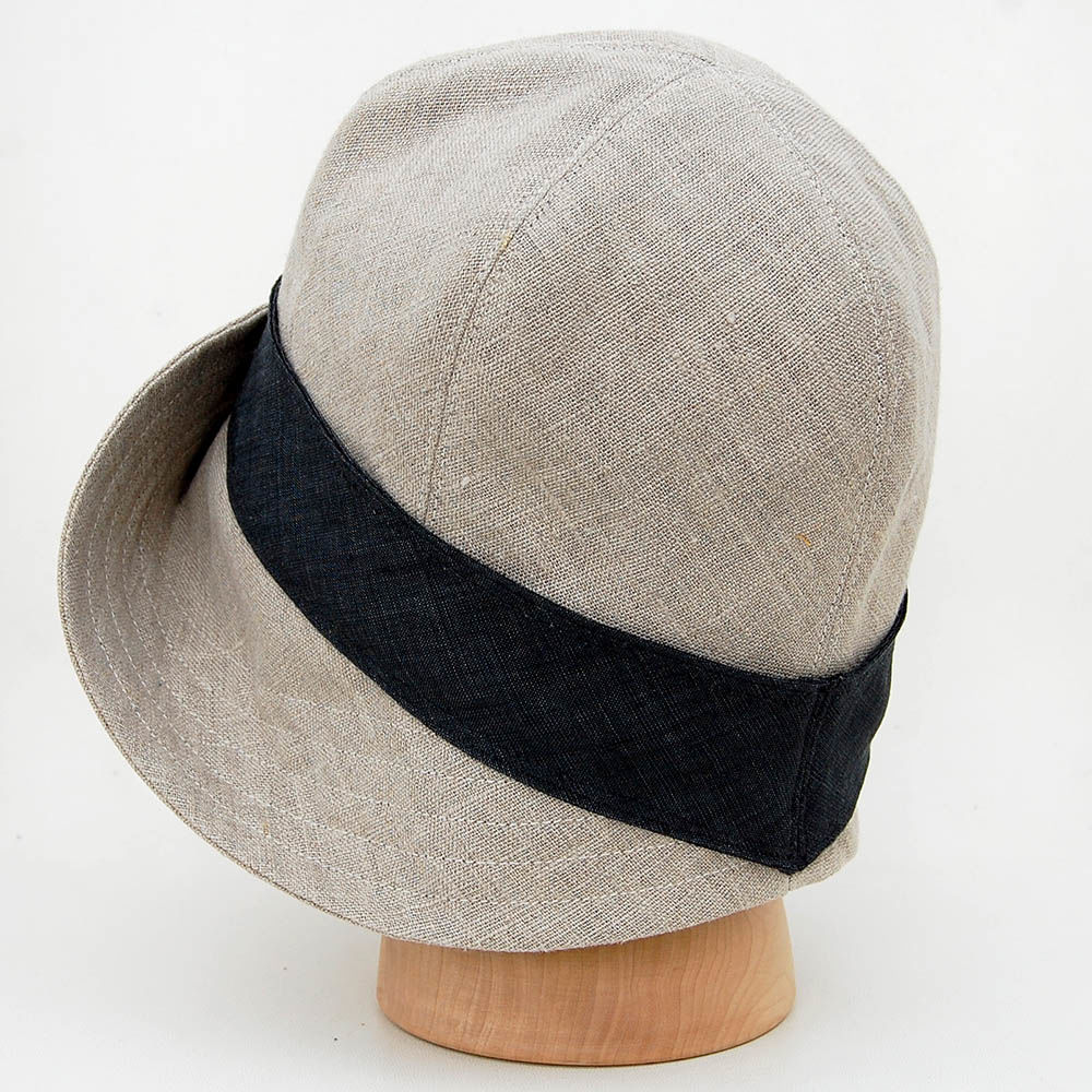 ... Natural French linen sun hat ZUTceleste - product images of ... 89d7a932afa
