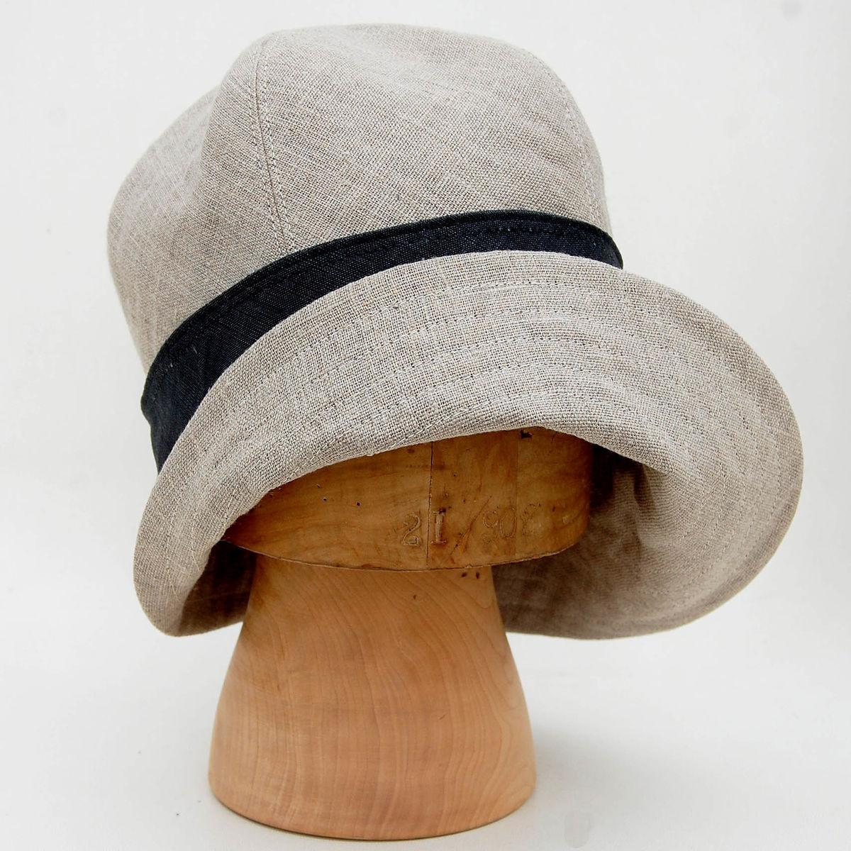 Natural French linen sun hat ZUTceleste - ZUT hats e6d848bb2f9