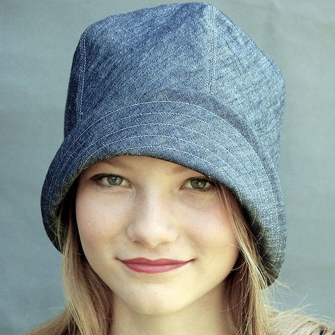Indigo linen chambray sun hat-ZUTamelie - ZUT hats dfaa7c22104