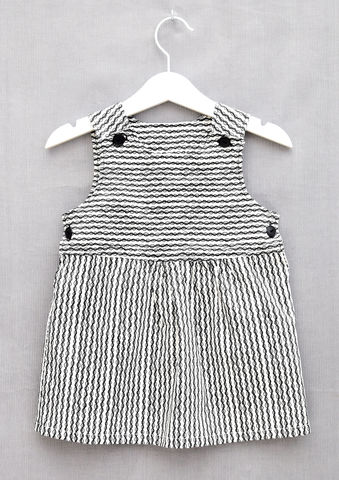 Lacey,monochrome,print,baby/toddler,dress,Monochrome, Lacey, Trendy baby, trendy toddler, trendy toddler fashion, trendy, toddler dress, pinafore, monochrome, skandinavian, style, children, cotton