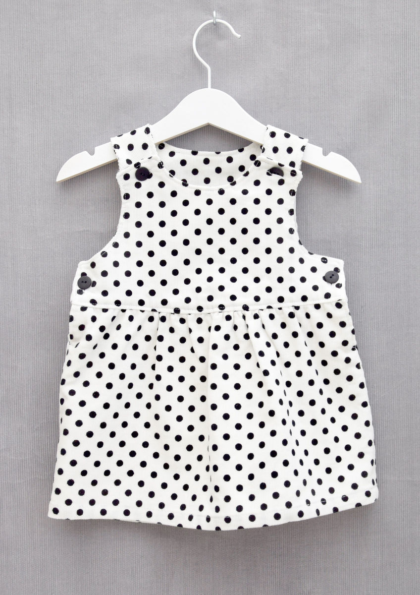 10a181a5c936 Sophie' monochrome needlecord baby/toddler pinafore dress - ATNine