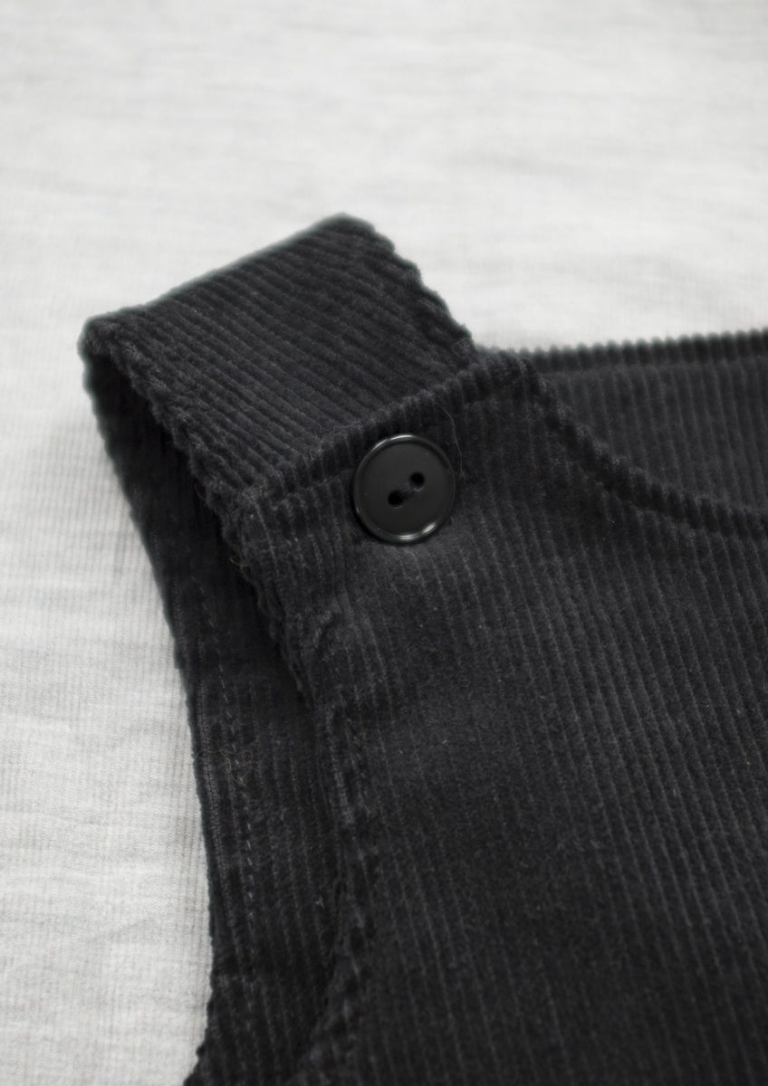 'Bonnie' black corduroy baby/toddler pinafore dress - product images  of