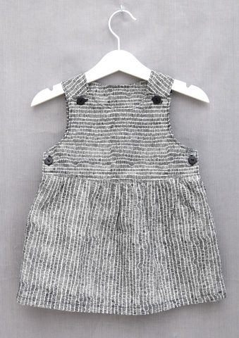 The,'Lilli',dress,Pinafore dress, Trendy baby, trendy toddler, trendy children, black and white, pinafore, dress, scandinavian, style, children, cotton