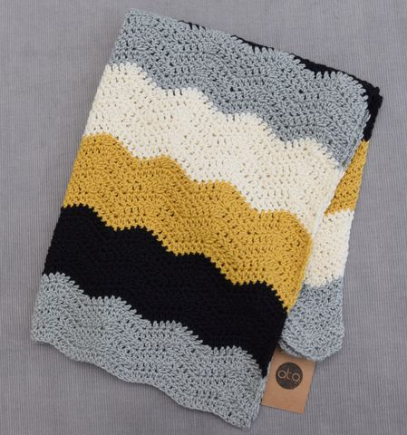 Contemporary,blanket,(mustard,accent),heirloom, baby blanket, contemporary, chevron, mustard, cotton, black, white, grey, stroller blanket, baby shower