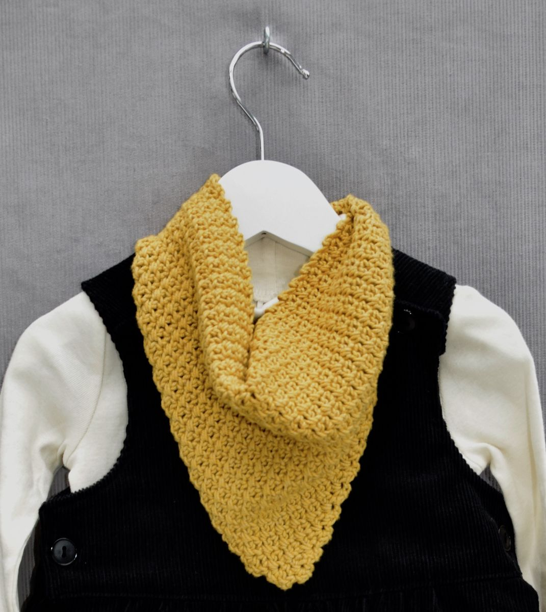 Baby/toddler bandana scarf (mustard) - product images  of