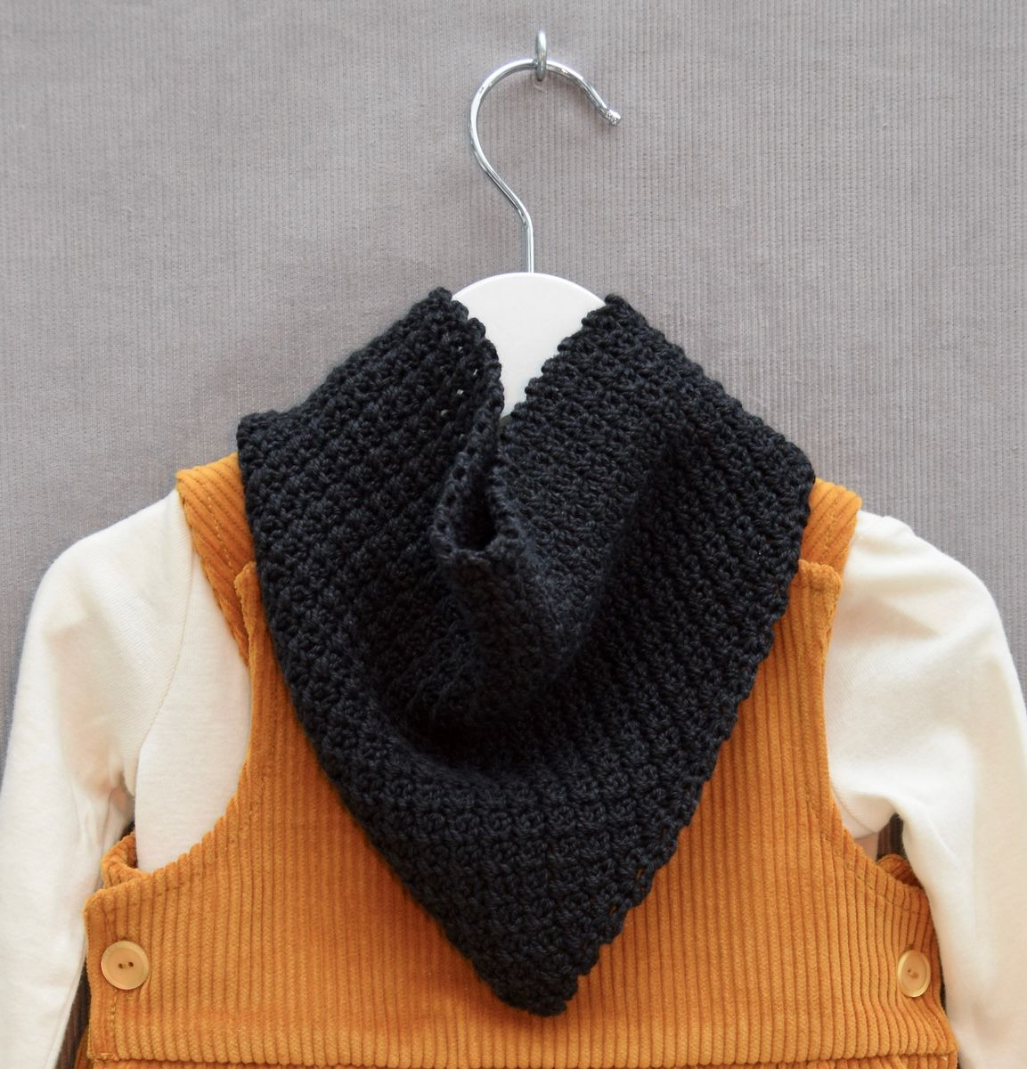 Baby/toddler bandana scarf (black) - product images  of