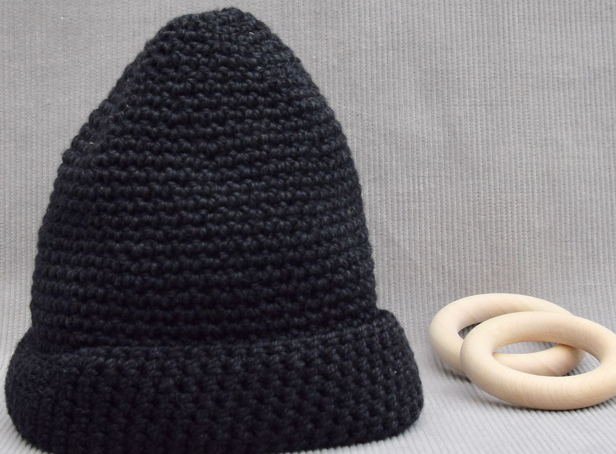 Baby/toddler hat (black) - product images  of