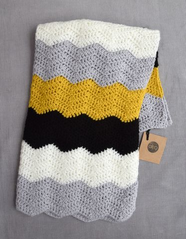Contemporary,blanket,(mustard),baby shower gift, baby blanket, contemporary, toddler blanket, stroller blanket, monochrome, grey, black, white, mustard, stripes