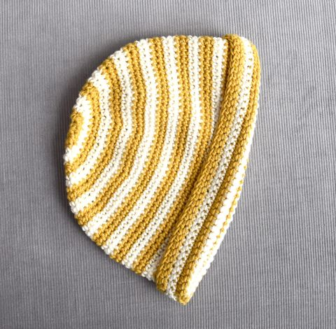Baby/toddler,striped,beanie,striped beanie, baby hat, toddler hat, breton striped hat, mustard, cream