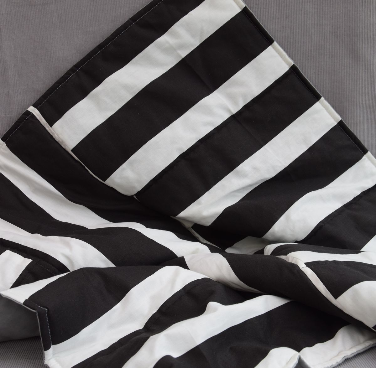 Monochrome striped baby, toddler play mat - product images  of