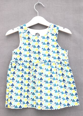 'Olivia',geometric,print,baby/toddler,dress,contemporary, geometrics, baby dress, toddler dress, modern print, cotton, trendy baby clothes, trendy toddler clothes