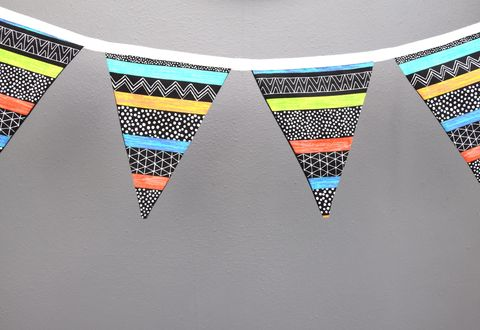 Contemporary,bunting,(monochrome/brights)