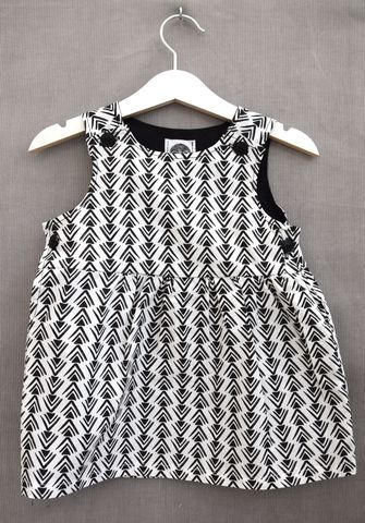 'Luna',monochrome,print,baby/toddler,dress, baby dress, toddler dress, trendy kids, trendy toddler fashion, trendy baby, black and white baby dress