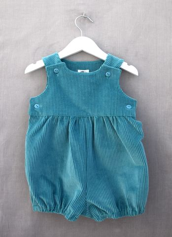 Ashley,corduroy,baby/toddler,rompers,(light,teal), romper suit, corduroy, bubble rompers, bloomers, trendy baby, trendy toddler, baby fashion, toddler fashion, teal green, children's clothing, playwear, special occasion wear
