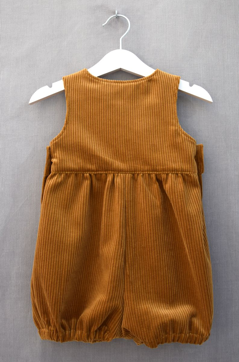 Perry corduroy baby/toddler rompers (ochre) - product images  of
