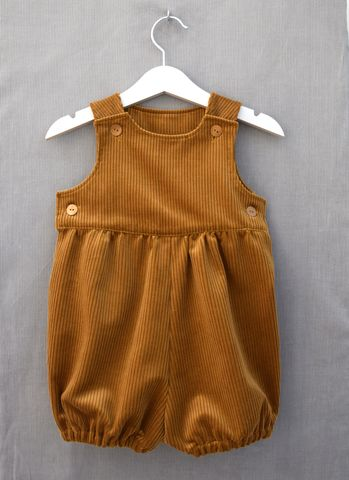 Perry,corduroy,baby/toddler,rompers,(ochre),ochre, mustard, toddler, baby, fashion, romper suit, rompers, bubble rompers, bloomers, playsuit, trendy, corduroy
